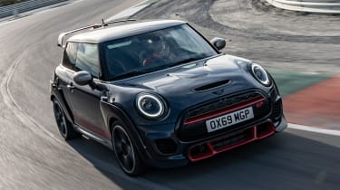 MINI John Cooper Works GP - front aerial cornering