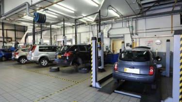 Nissan work shop