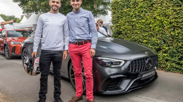 Mercedes-AMG GT four-door driver and co-pilot