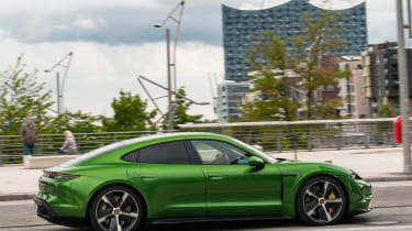 Porsche Taycan Turbo S - side action
