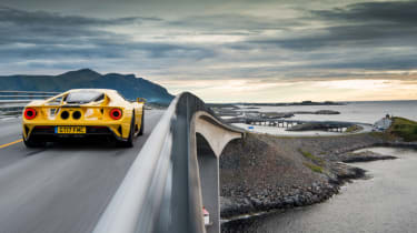 Ford GT Norway road trip - rear