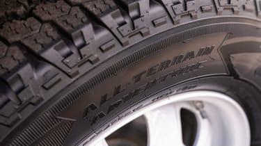 Defender Hard Top - tyre detail
