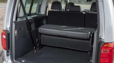 Caddy rear seats folding