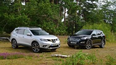 Nissan X-Trail vs Hyundai Santa Fe