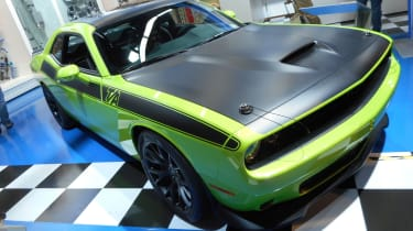 American muscle car fans will look upon this Challenger concept and see a lot of retro appeal. The T/A Concept revives the package available on the original Challenger of the 1970s so there is lots of matt black detailing with typical