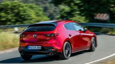 Mazda 3 SkyActiv-X - rear cornering