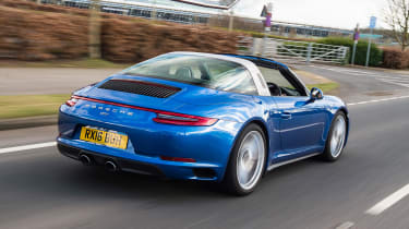 Porsche 911 Targa 2016 UK - rear tracking