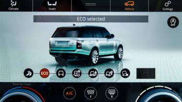 New Range Rover PHEV 2017 review - infotainment screen