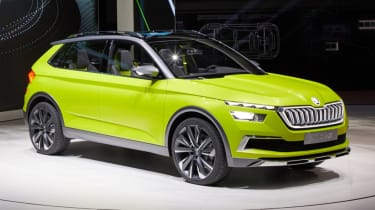 Skoda Vision X lime green