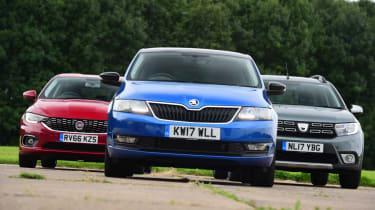 Skoda Rapid Spaceback vs Dacia Logan MCV Stepway vs Fiat Tipo - teaser