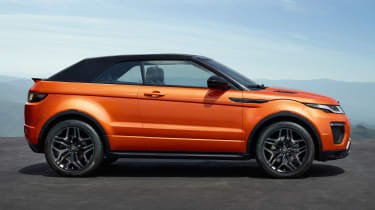 Range Rover Evoque Convertible side view
