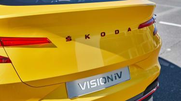 Skoda Vision iV concept - rear Skoda badge