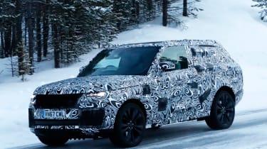 Range Rover Coupe spy shot front quarter