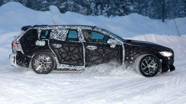 Volvo V60 spied - side