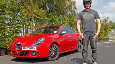 Tom Phillips with an Alfa Romeo Giulietta Cloverleaf