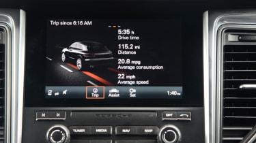 Porsche Macan GTS - infotainment screen