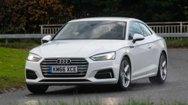 Audi A5 Coupe 2.0 TDI - front cornering