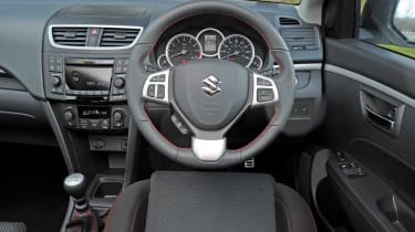 Swift Sport interior features good quality materials and a vast array of equipment as standard.