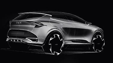 Kia Sportage sketch - rear
