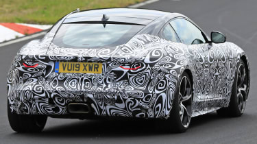 Jaguar F-Type - spied - rear 3/4 tracking