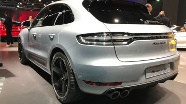 Porsche Macan Turbo - rear 3/4 static Frankfurt