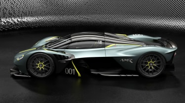 Aston Martin Valkyrie AMR Track Performance Pack Stirling Green and Lime - side