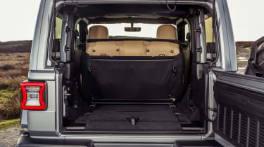 Jeep Wrangler  - boot with seats down