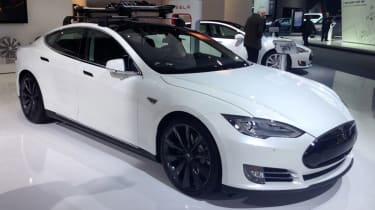 Tesla Model S - Detroit Motor Show 2014