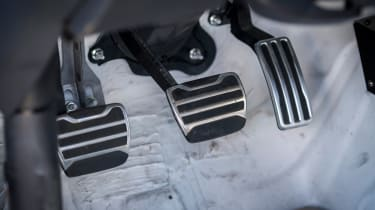 Nissan GT-R 1,390bhp drift car - pedals