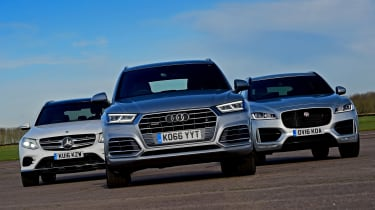 Audi Q5 vs Jaguar F-Pace vs Mercedes GLC - head-to-head