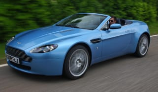 Aston Martin V8 Vantage roadster convertible front tracking