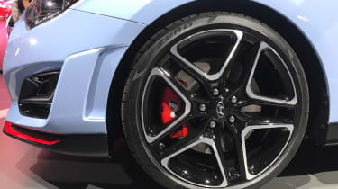 New Hyundai Veloster N - Detroit wheel