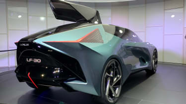 Lexus LF-30 concept car show rear