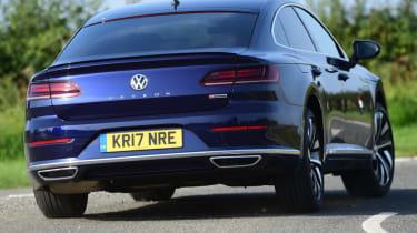 Volkswagen Arteon review - rear corner action