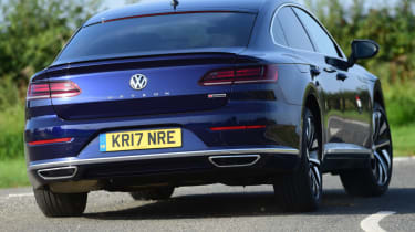 Volkswagen Arteon review - rear corner action