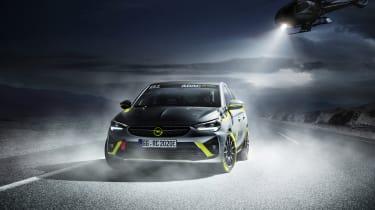 Vauxhall Corsa-e rally - dusty