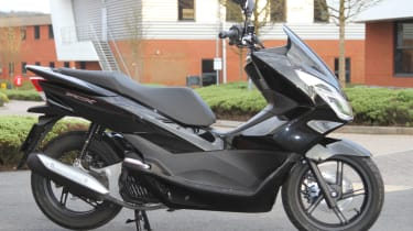 Honda PCX 125 review - black side profile