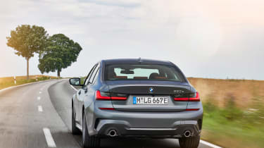 BMW 330e - full rear