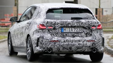bmw 1 series spy shot rear
