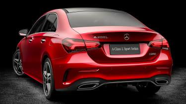 Mercedes A-Class saloon - red rear
