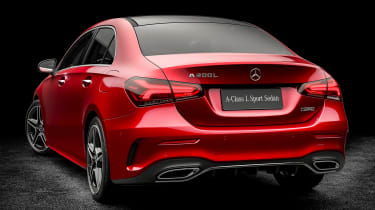 Mercedes A-Class saloon - red rear