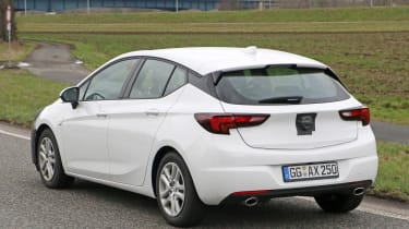 2019 Vauxhall Astra spyshot - side/rear
