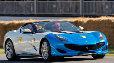 Ferrari SP3JC - front 3/4 tracking Goodwood 2019