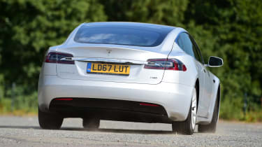 Tesla Model S 75D - rear cornering
