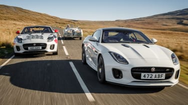 Jaguar F-Type rally car - range
