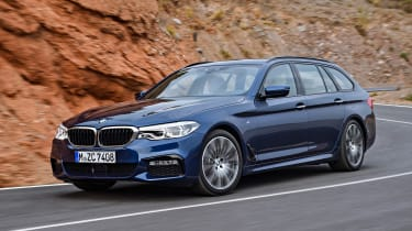 New BMW 5 Series Touring - front cornering