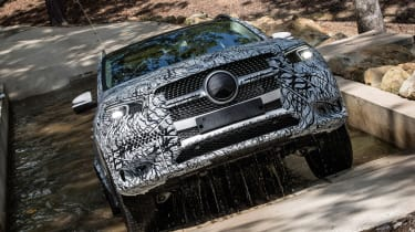 Mercedes GLE prototype - off-road full front