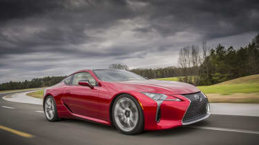 Lexus LC500 side front tracking