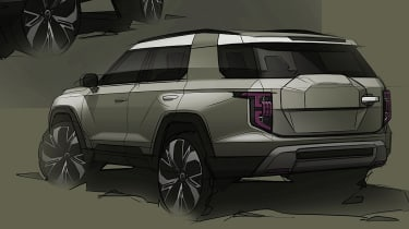 SsangYong J100 electric SUV rear