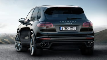 porsche cayenne S platinum edition rear quarter